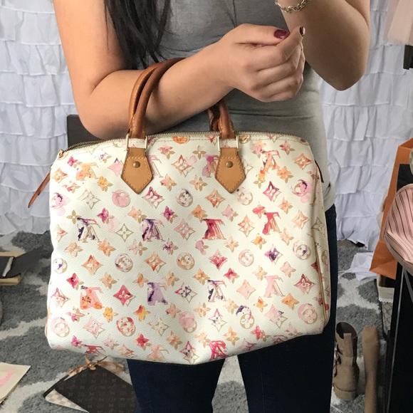 59f008aa5e54 Louis Vuitton Handbags - Auth LV Aqurelle Watercolor Speedy 35