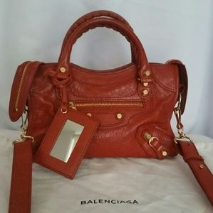 Balenciaga Giant 12 City Mini Leather Satchel
