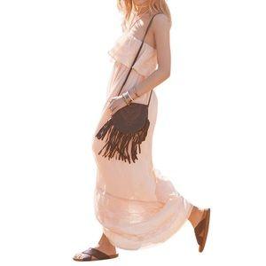 Free People Dresses & Skirts - FREE PEOPLE Maxi Dress Draped Bohemian Long Gown