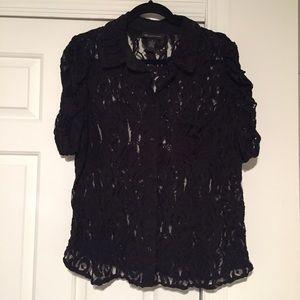 INC Black lace top