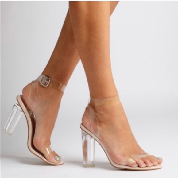 cb4196108aec9 Clear Strappy heels