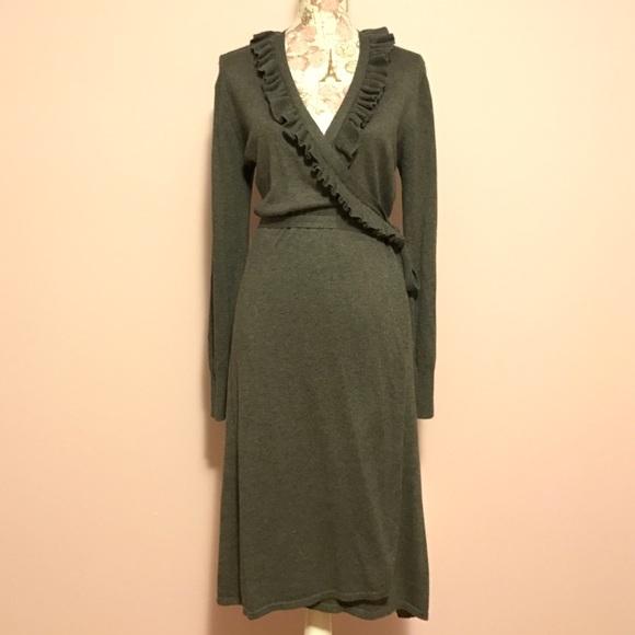 49% off Merona Dresses & Skirts - ✨Merona Wrap Sweater Dress ...