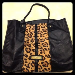 Christian Siriano Handbags - Black and leopard print purse