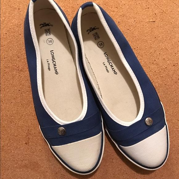 Longchamp Shoes   Le Pliage Sneaker Flats Blue   Poshmark
