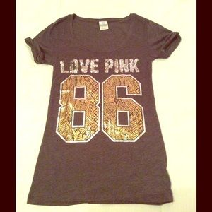 VS PINK  Sequin T-Shirt Size XS