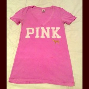 VS PINK  Pink T-Shirt Size XS