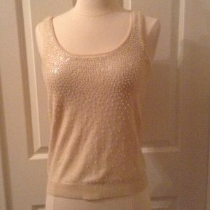 CYNTHIA STEFFE Cashmere and Sequins Tank Sz XS
