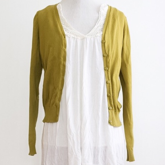 60% off H&M Sweaters - Olive green cardigan from Vanessa's closet ...