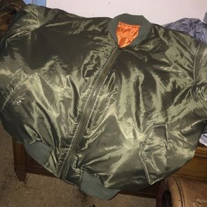 ADMÜ Other - Pilot jacket Green/Orange Reversible