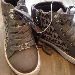 d42af62b4f4f Michael Kors Shoes - IVY SERAFINA GREY Michael Kors high top Kids shoes