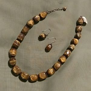 Keyhole Boutique Jewelry - NWT 925 Semi-precious Tigereye Necklace