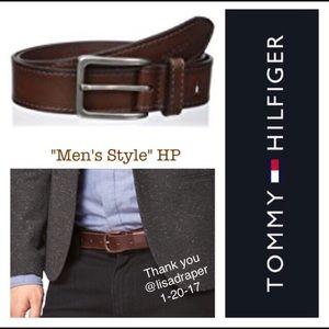 Tommy Hilfiger Other - TOMMY HILFIGER Brass buckle brown leather belt
