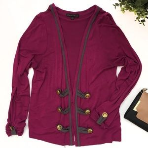 Lucca Couture Sweaters - Comfy Cardigan, Military Inspired Buttons