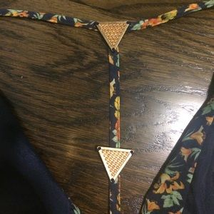 Blush Pants - Tie front-open back-open sleeve romper