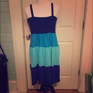 Faded Glory Dresses & Skirts - Sleeveless Comfy Blue Maxi Dress size XL/XG  16-18