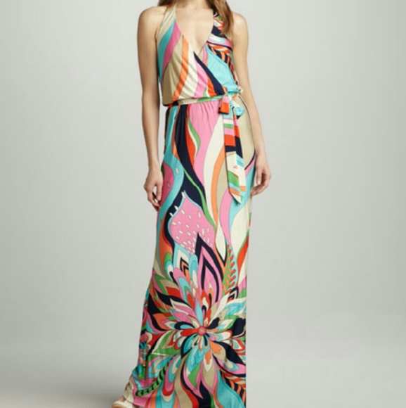 133913afb8a Trina Turk Surfside Halter Maxi Dress. M 587436a82ba50a5eaf02437a
