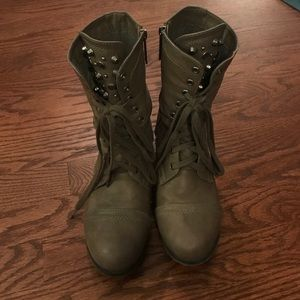 Shoes - studded combat boots