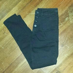 H&M Divided black high waisted skinny jeans