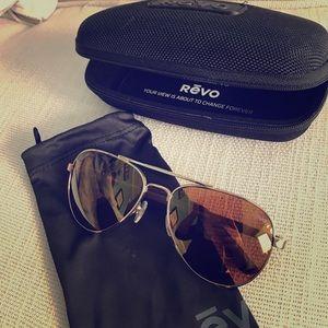 Revo Accessories - Revo Polarized Aviator Sunglasses