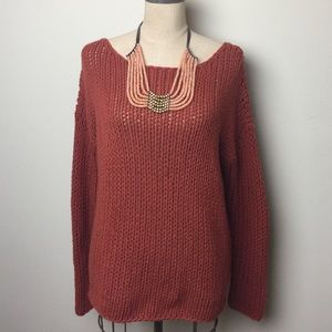 Vince loose knit crew neck pullover sweater