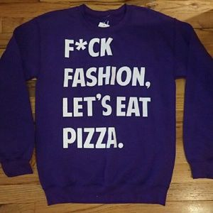 Jac Vanek Tops - JV by Jac Vanek F*ck Fashion Purple Sweatshirt S