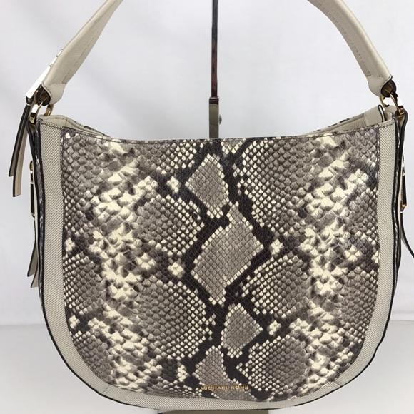938f2b328be2c8 Michael Kors Bags | Julia Python Leathr Conv Shoulder Bag | Poshmark