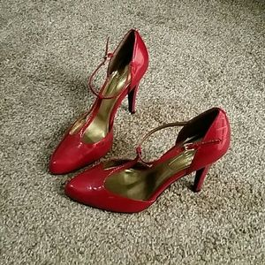 Paolo Pecora Shoes - Red T-strap heels