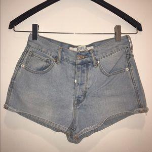 Brandy Melville Pants - •Light blue vintage inspired high waisted shorts•