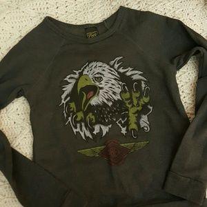 Obey Tops - Obey Screaming Eagle Sweatshirt
