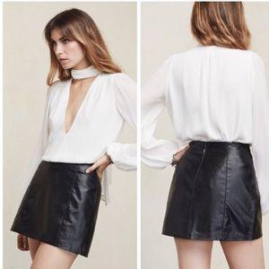 Reformation Dresses & Skirts - NWT-- Reformation Zinc skirt- genuine leather 💗