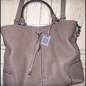Large Grey Frye Handbag