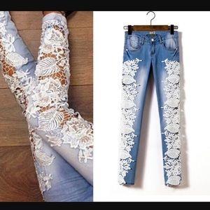 Fashion Nova Denim - Lace Sidepatch Denim (PRICE FIRM)