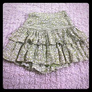 Reiss Dresses & Skirts - Reiss Ruffle Trim High Waist Mini A Line Skirt