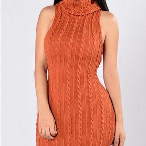 62d0eebc2c3 Fashion Nova Dresses - Fashion Nova Burnt Orange Sweater Dress