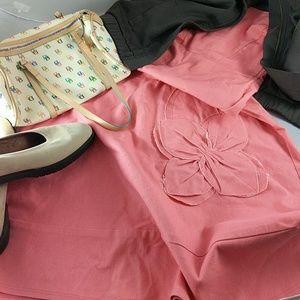 final touch Dresses & Skirts - Summer peach jean dress S