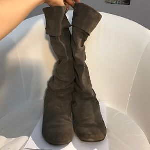 Steve Madden Grey Suede Boots Size 7