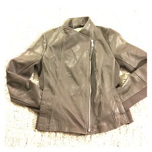 MICHAEL Michael Kors Jackets & Blazers - Michael Michael Kors Leather Asymmetrical Jacket