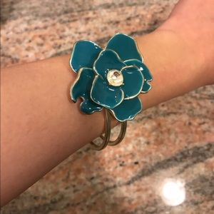 Blue flower bangle