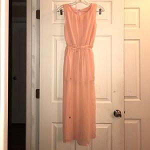 Coral Sleeveless Maxi Dress S