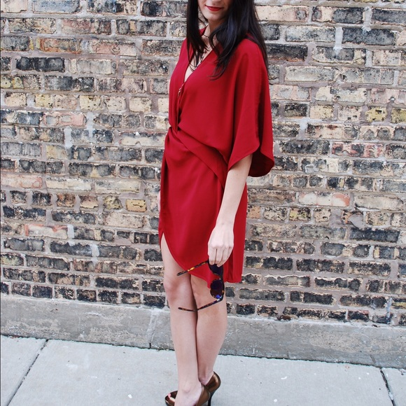 Tobi Dresses - Tobi red shirt/dress.