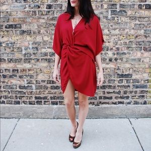Tobi red shirt/dress.