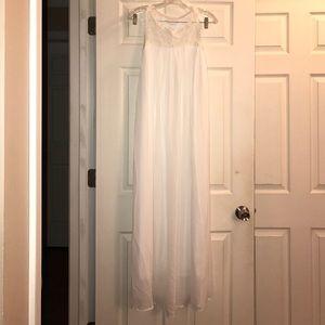 White Sleeveless Maxi Dress OS