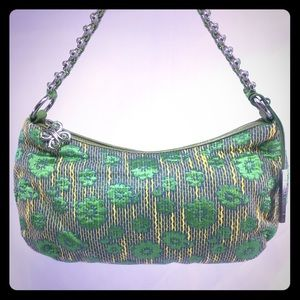 Elliott Lucca Handbags - ELLIOTT LUCCA NWOT Green Floral & Butterfly Bag