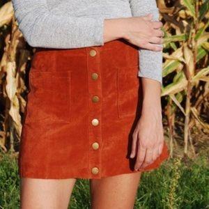 Tobi Skirts - Tobi rust suede mini skirt. NWT