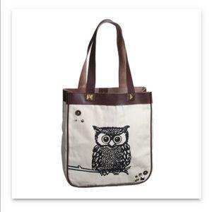 Handbags - NWT Glam Owl Canvas Tote