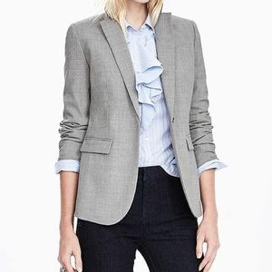 Fitted blazer with roll cuff details