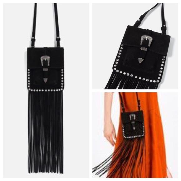 da6d306d88 Zara Bags | Stunner Fringed Split Suede Crossbody Bag | Poshmark