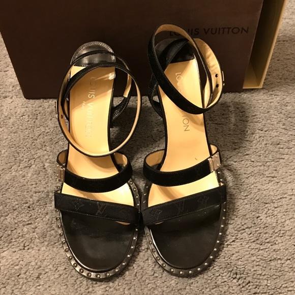 1040aae99ad0 Louis Vuitton Shoes - Authentic Louis Vuitton black sandals