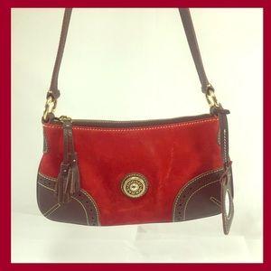 Dooney & Bourke Handbags - DOONEY&BOURKE  NWOT  Red Suede Slim ShoulderBag