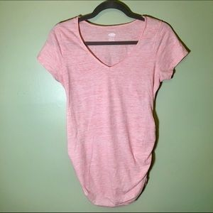Old Navy Coral Heather Maternity Tee Shirt